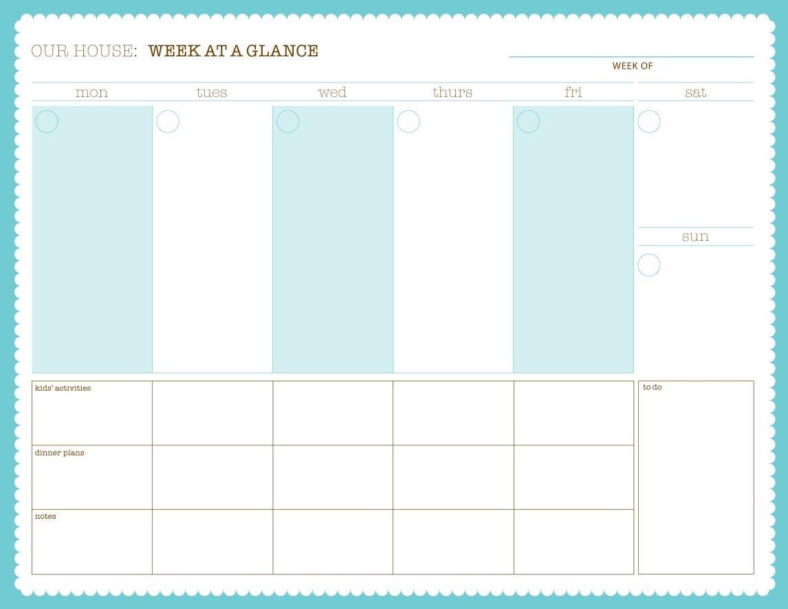 photo regarding Printable Family Calendar named Weekly Calendar - Totally free PDF Printable Printables Calendar