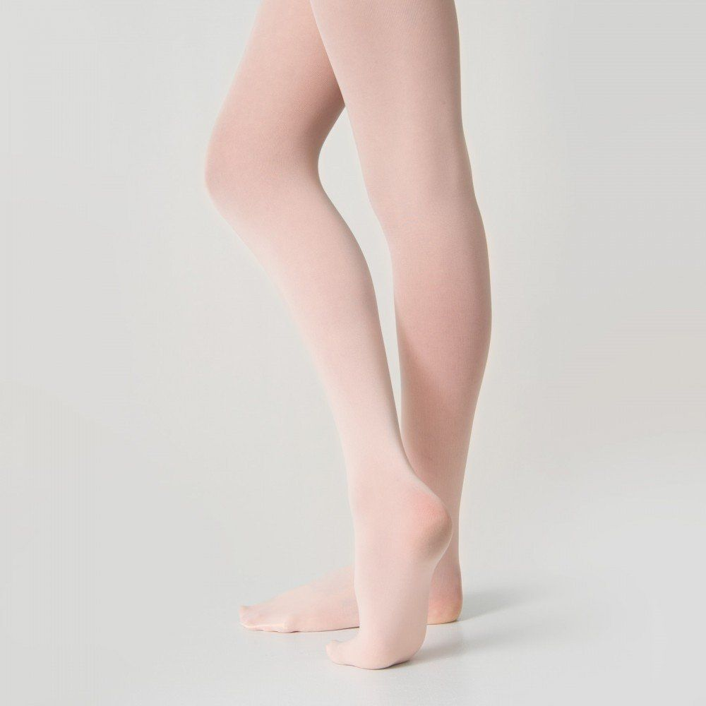 37bdf68b6f66d 1st Position Full Foot Pink Ballet Tights dazzle-dancewear.co.uk