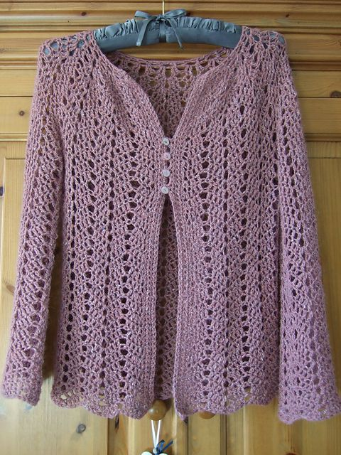 48bd0b11a20a Top down seamless cardigan. Body and sleeve lengths can be varied ...