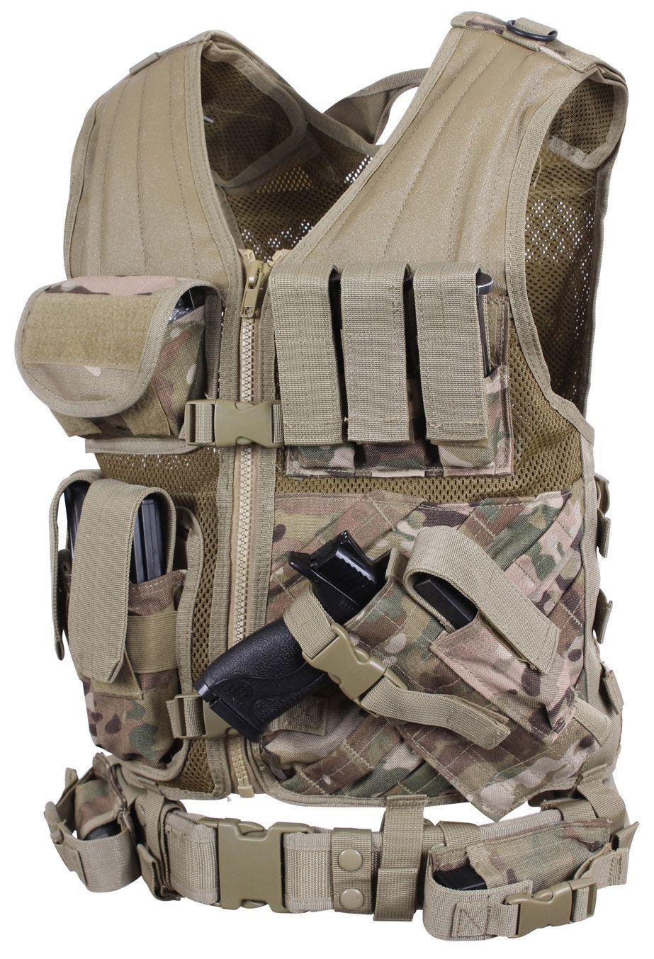 Cross Draw MOLLE Tactical Vest - Multicam  c6365acae633b