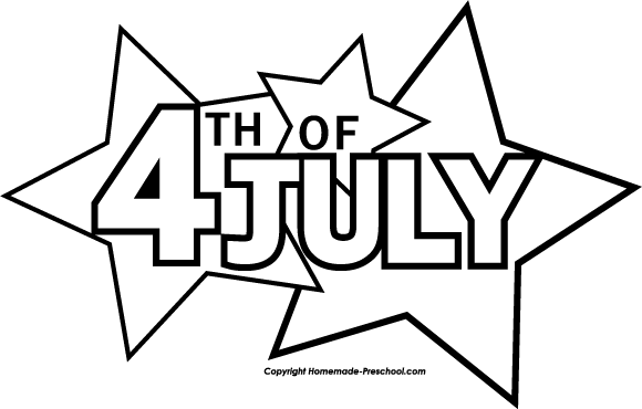 4th of july clipart black and white google search appliques