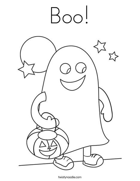 Boo Coloring Page from TwistyNoodle Halloween Coloring Pages - new baby halloween coloring pages