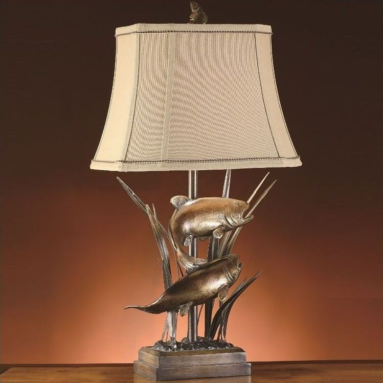 Fish Table Lamp Upstream Rustic Table Lamps Table Lamp Crestview Collection