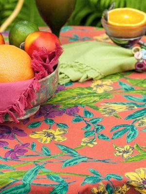 Veranda Tablecloth   Coral | Table Linens U0026 Kitchen, Tablecloths:Beautiful  Designs By April
