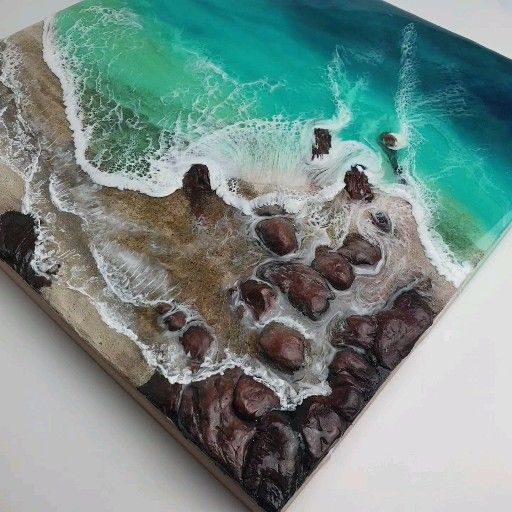 Photo of Resin Ocean Art Resin Art Resin Waves