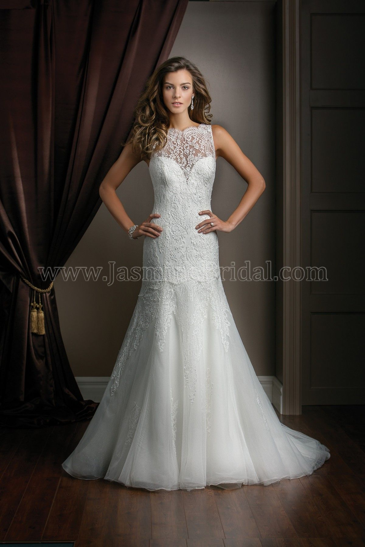 Jasmine couture wedding dress style t in ivory a bateau