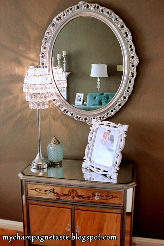 painting mirrors painted mirror frame mirrors spray painting mirror. Black Bedroom Furniture Sets. Home Design Ideas