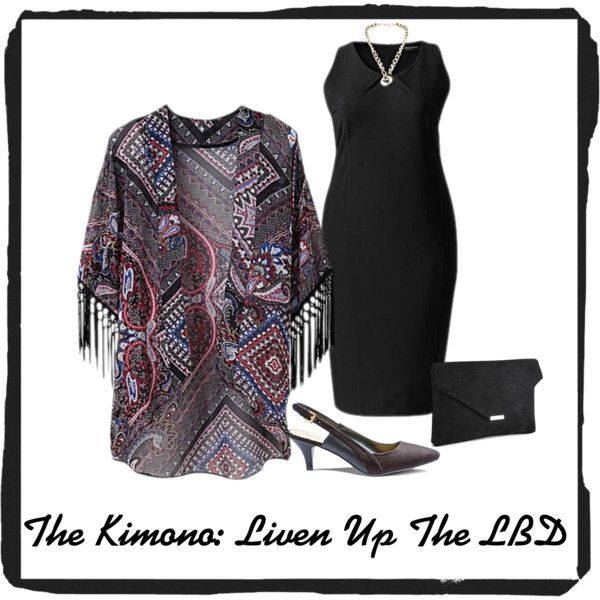 The Kimono: Liven Up The LBD by simplybe on Polyvore