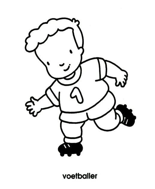 Kleurplaten Voetbal Engels.Kleurplaat Voetballer Bc Beroepen Kleurplaten Voetbal En Sport