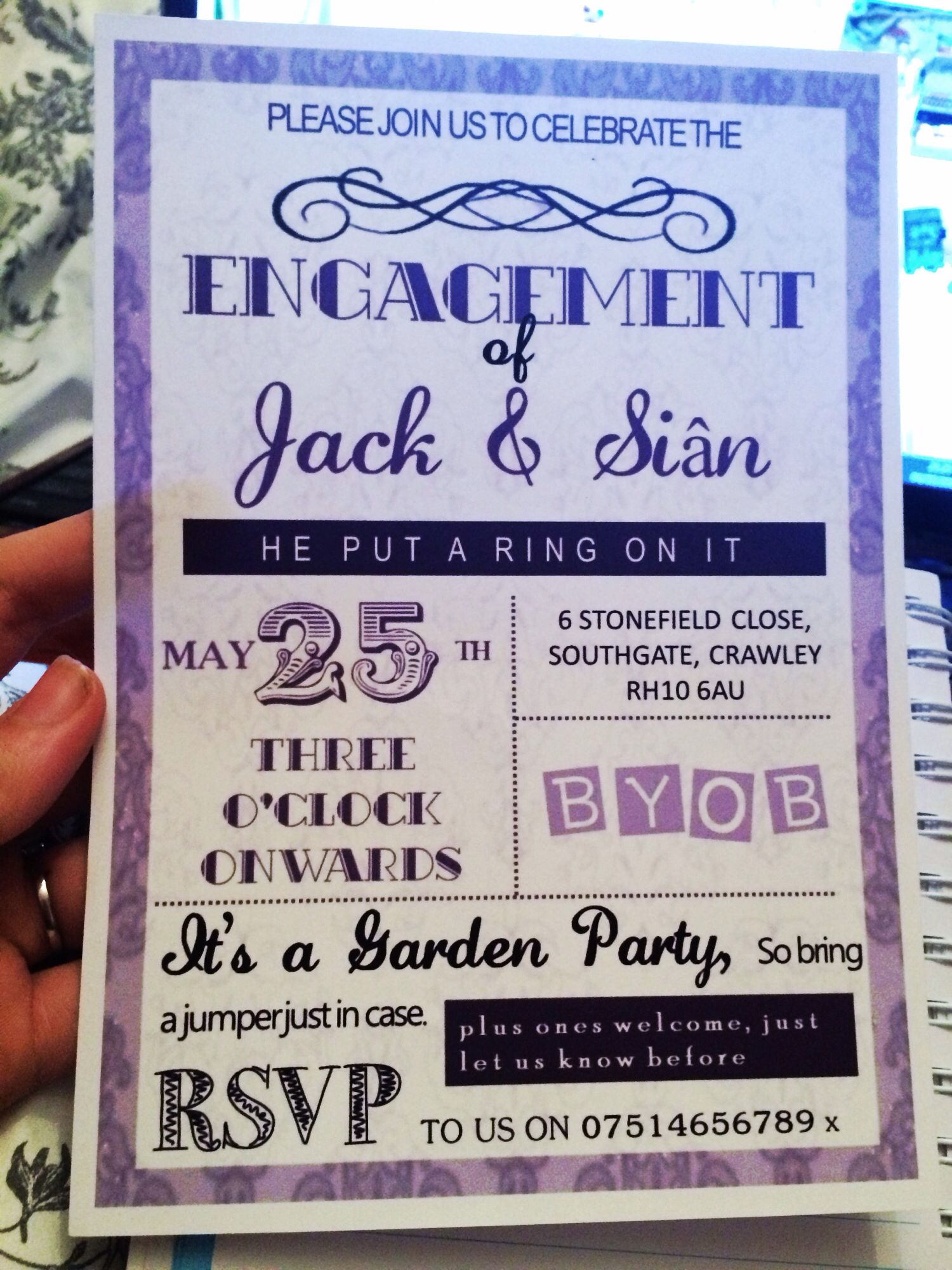Vintage engagement party invites. Handmade. | Engagement party ...
