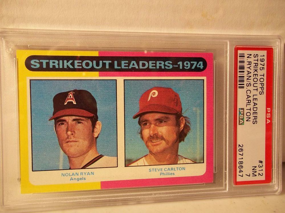 1975 topps nolan ryansteve carlton psa nm 7 baseball card