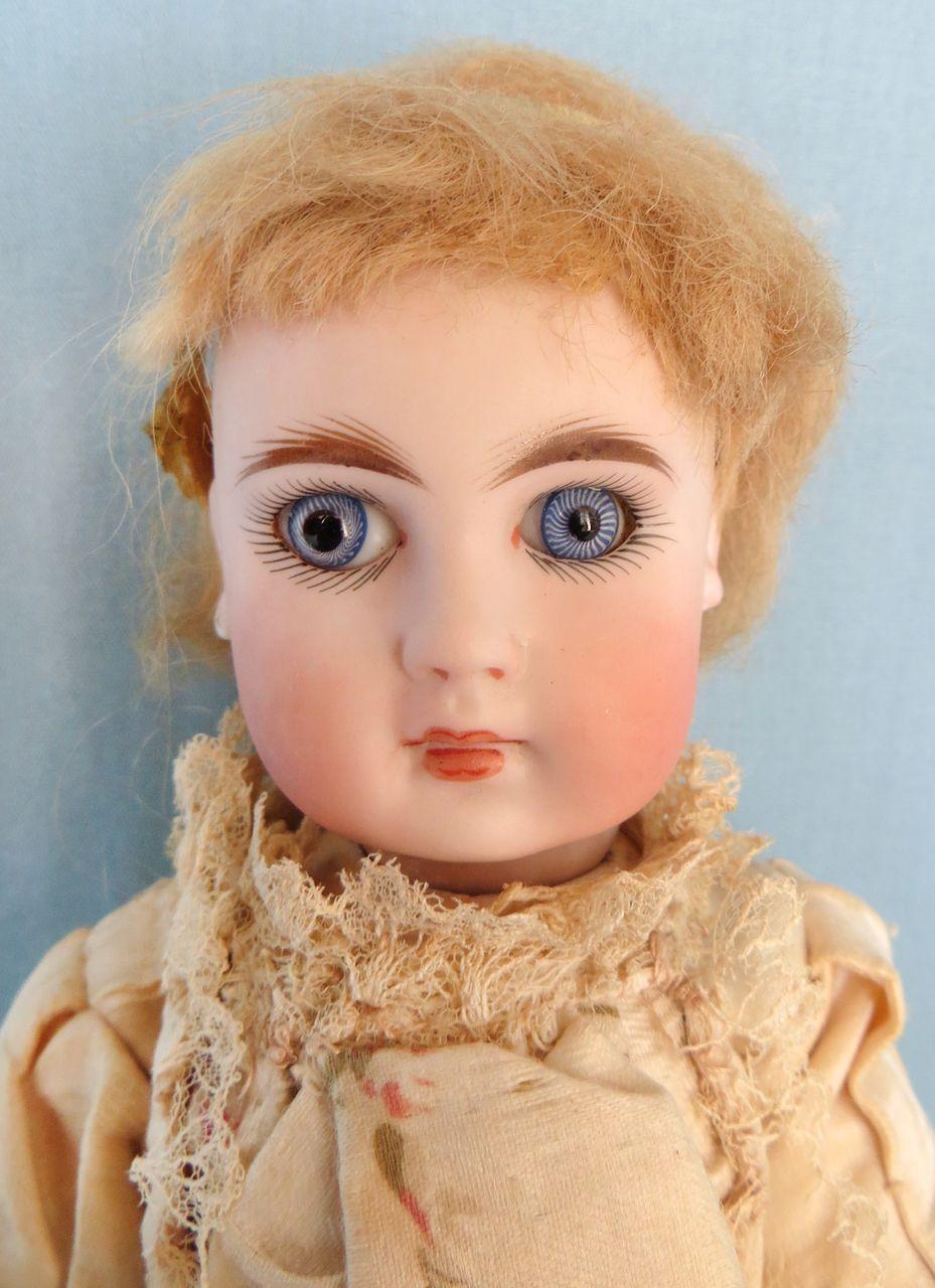 Antique SONNEBERG all original German doll made for French Market from abigailsattic on Ruby Lane