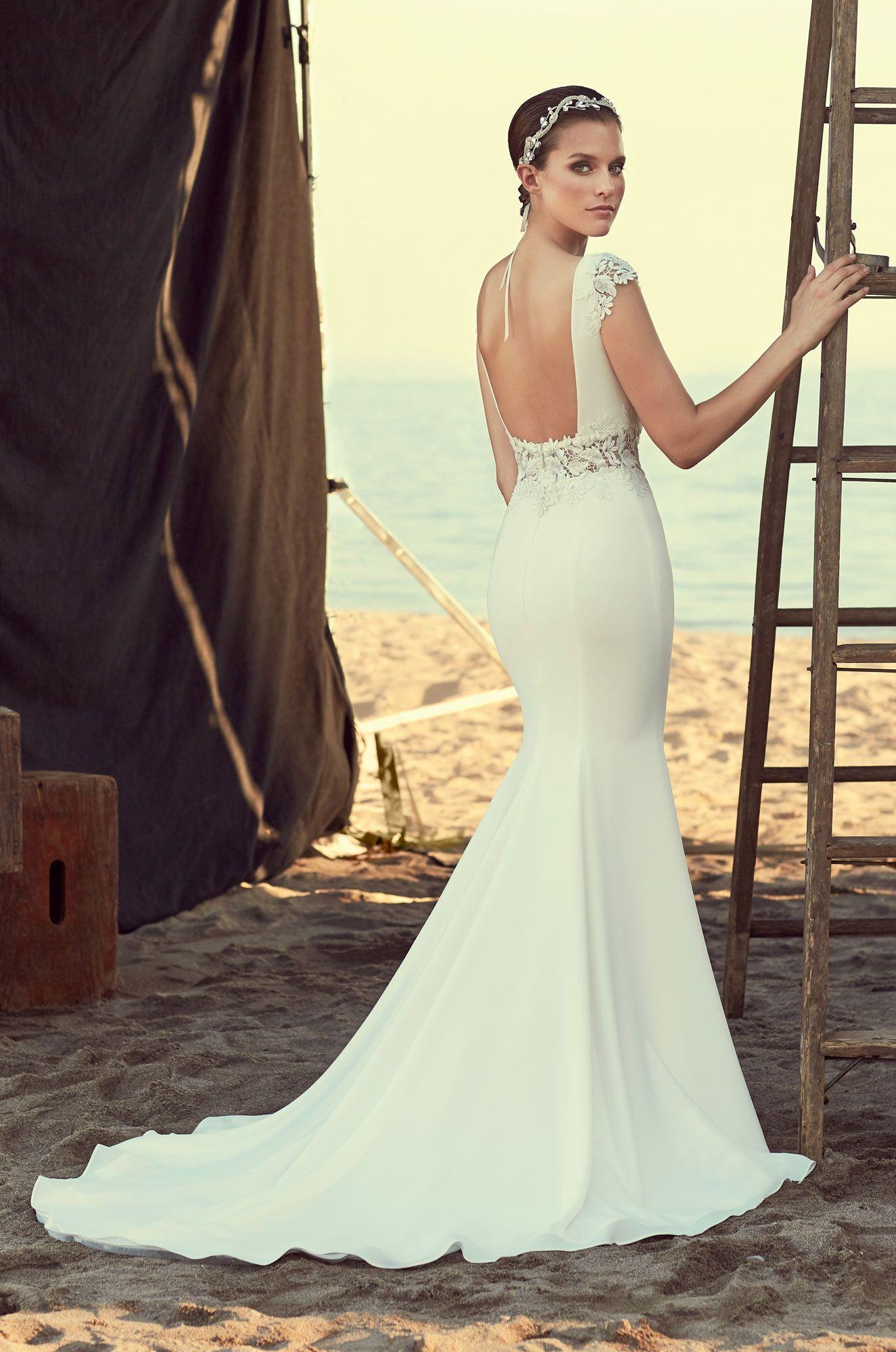 Sheer midriff wedding dress style in wedding dresses