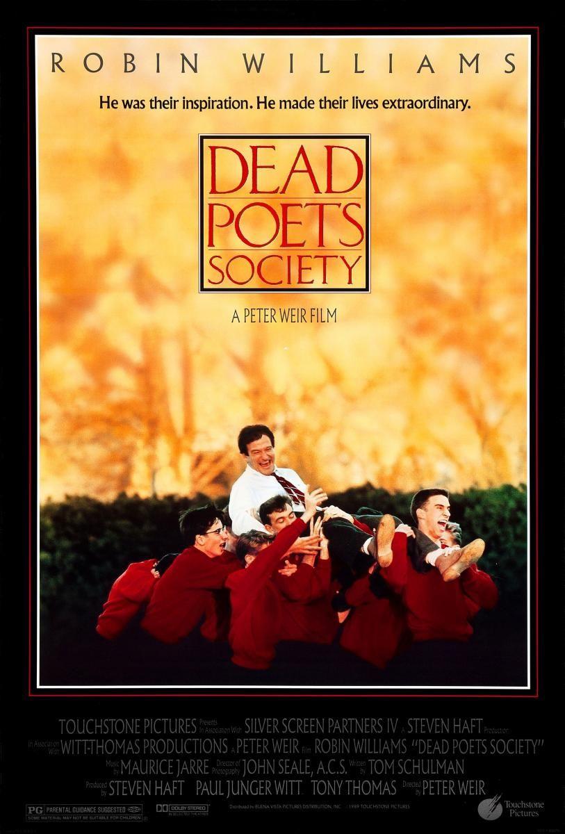 El Club De Los Poetas Muertos 1989 Hdtv Clasicofilm Cine Online Dead Poets Society Movie Dead Poets Society Posters Dead Poets