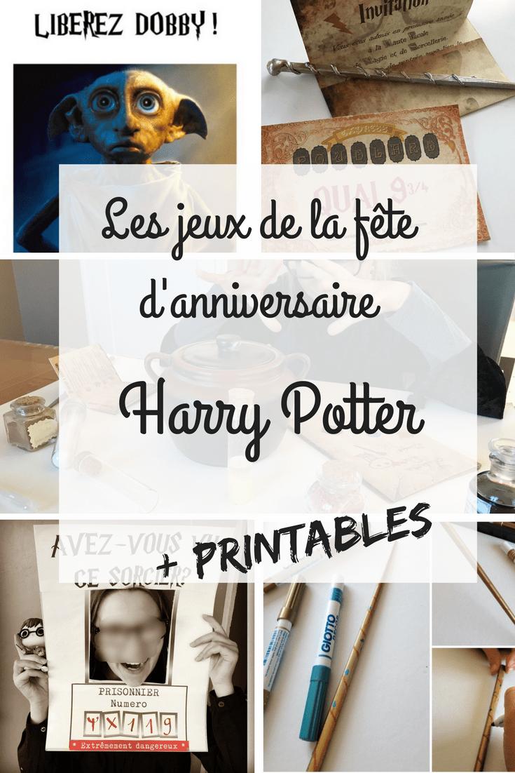 Anniversaire Harry Potter 10 activités Harry Potter pour