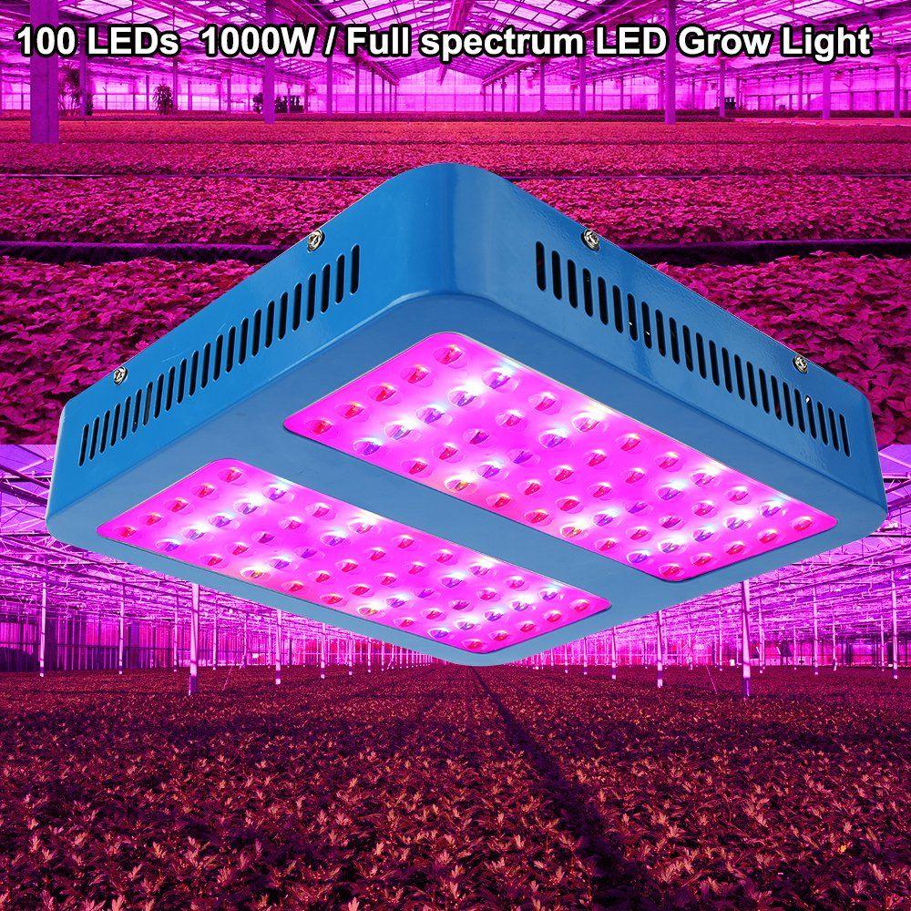 Led Grow Light 1000w Derlights 1000 Watts High Power Double Chips Full Specturm Grow Lamp For Greenhouse Hydropo Indoor Grow Lights Led Grow Lights Grow Lights
