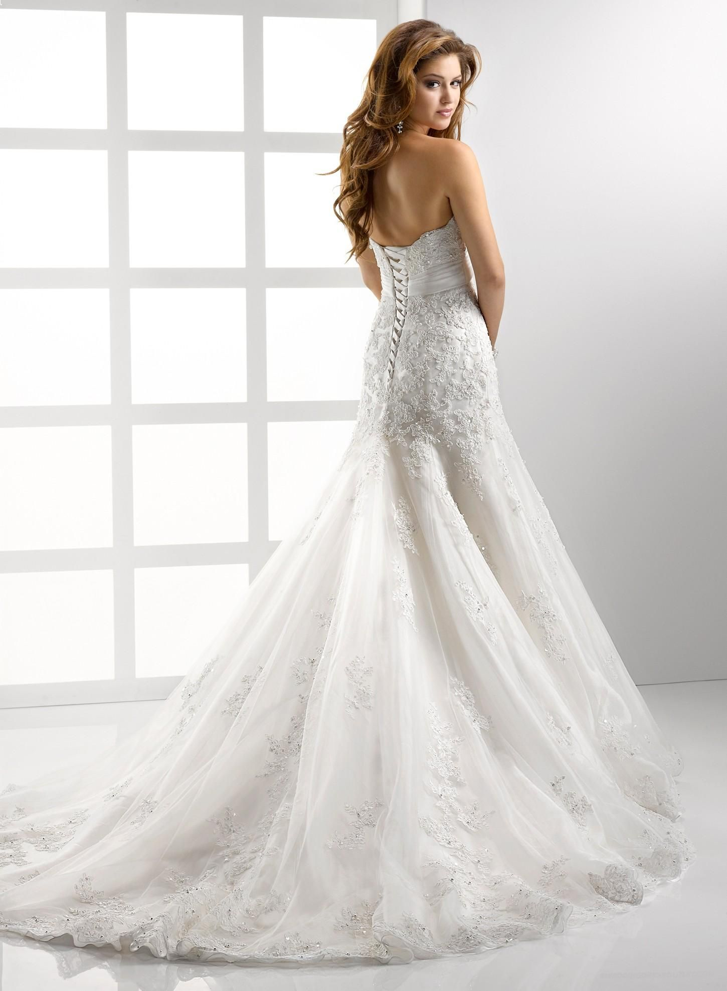 Luxurious Embellished Lace And Tulle Soft Sweetheart Fit