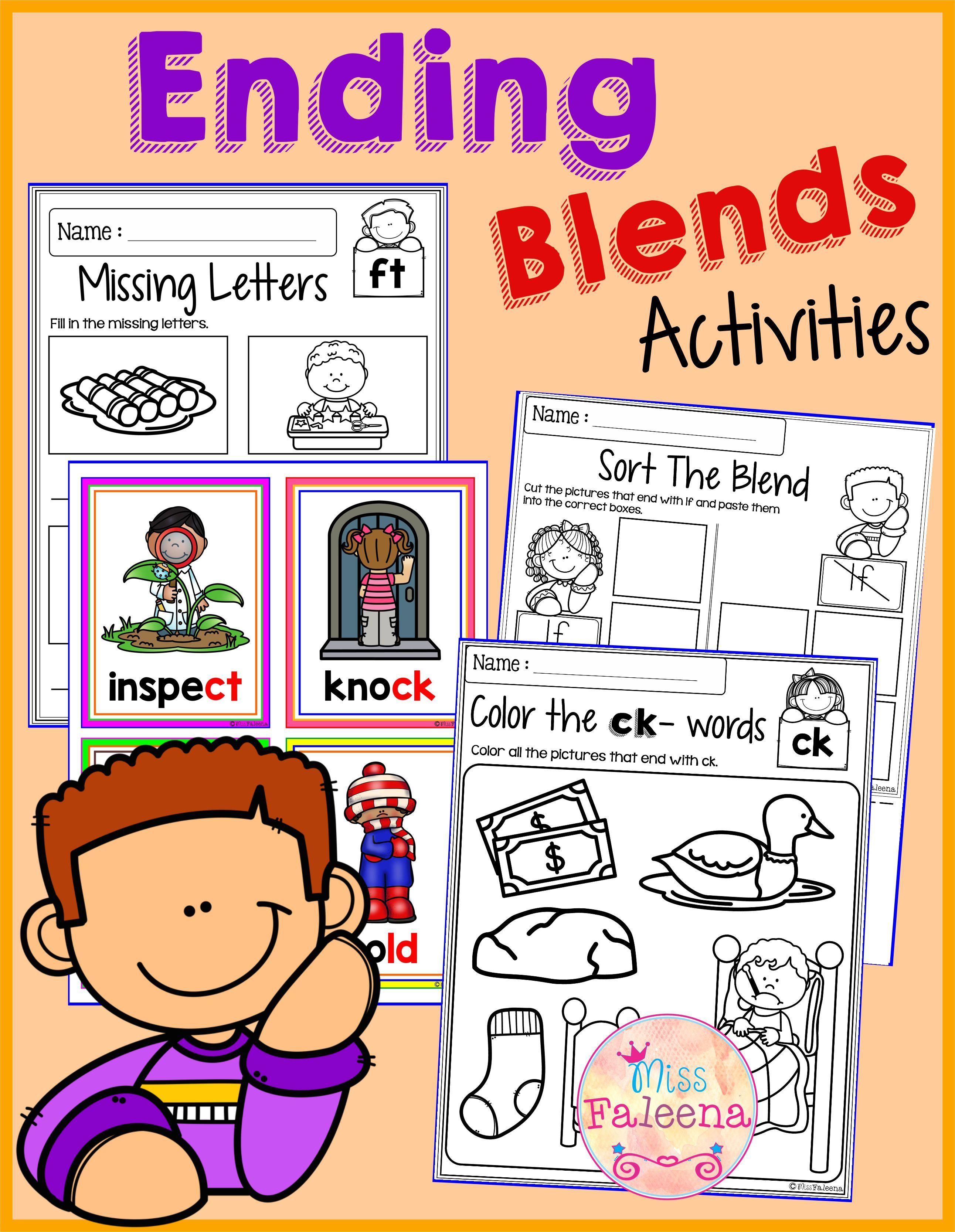 The Ending Blends Activities