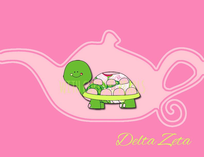Delta Zeta Lilly Mascot Symbol Wallpaper By Withcurlsandpearls On