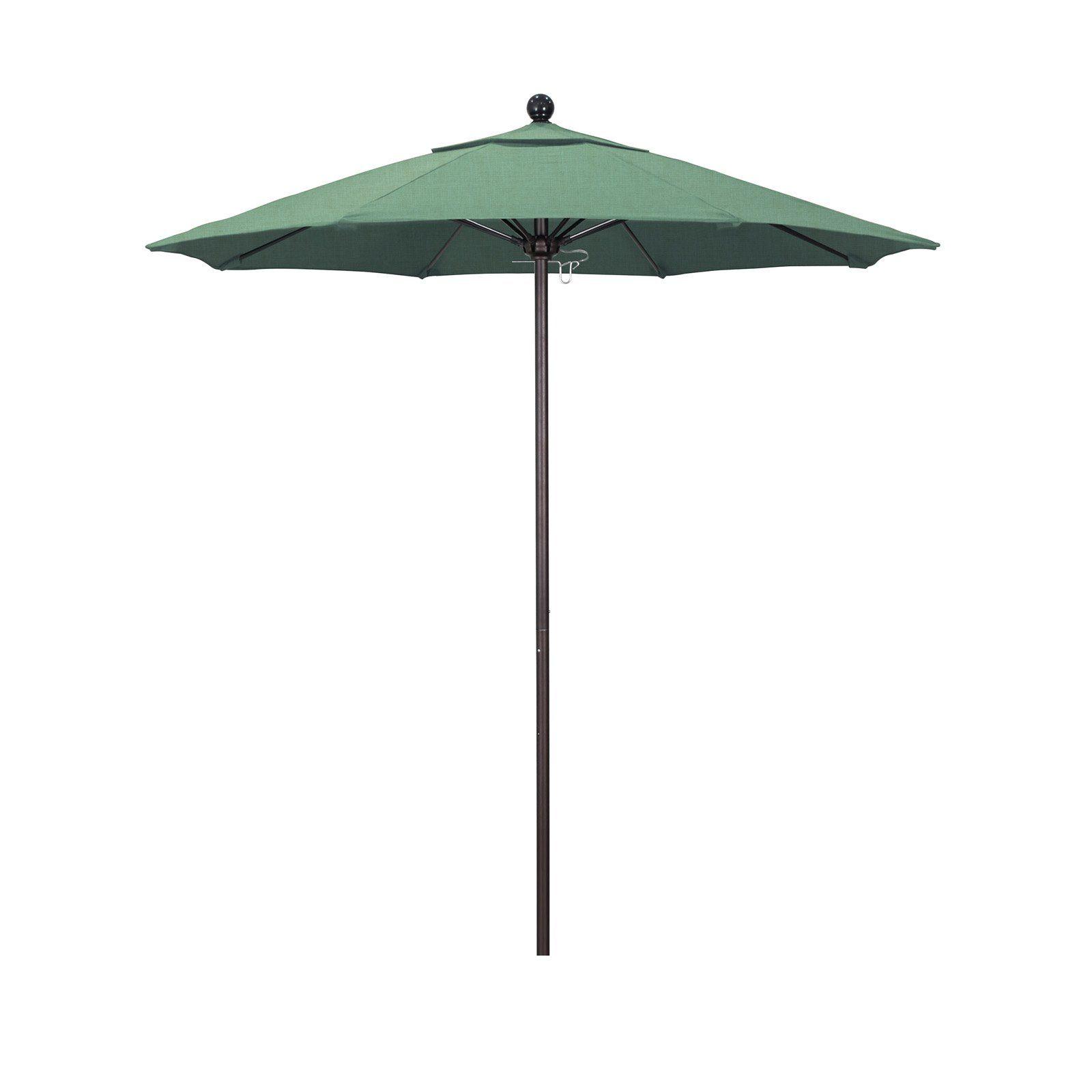 California Umbrella 7 5 ft  Fiberglass Pacifica Market Umbrella Spa