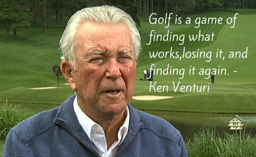 If you have been playing for any length of time I think we all can relate to this one.  Great quote by Ken Venturi.   #GolfQuotes #Golf #KenVenturi