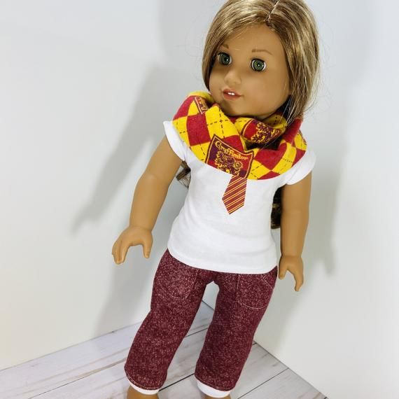 18 Inch Doll Clothes - school uniform plaid infinity scarf fits Dolls Like American Girl and Gotz #18inchdollsandclothes