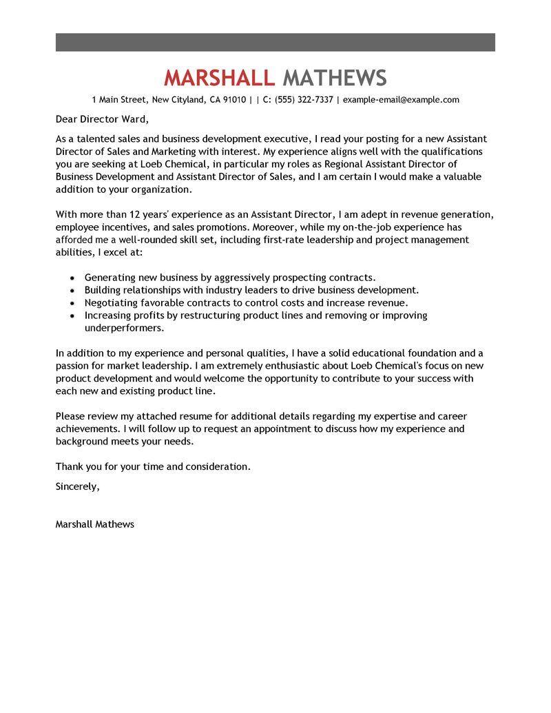 Cover Letter Template Management Cv lettre de motivation
