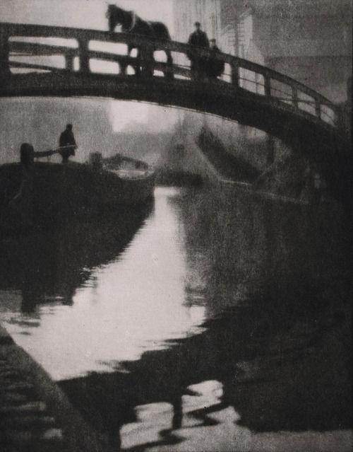 Regent's Canal, London, 1904, Alvin Langdon Coburn Artemis: See archive for more Alvin Langdon Coburn.