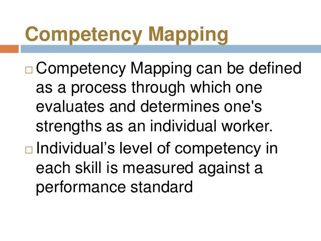 competency mapping ppt competency map pinterest