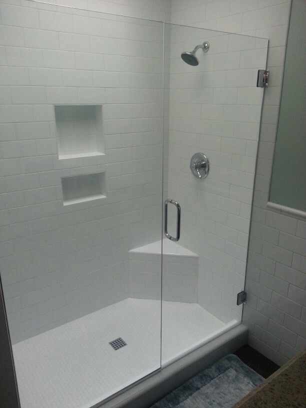 Replaced tub with shower, subway tile and glass shower doors. | Mis ...