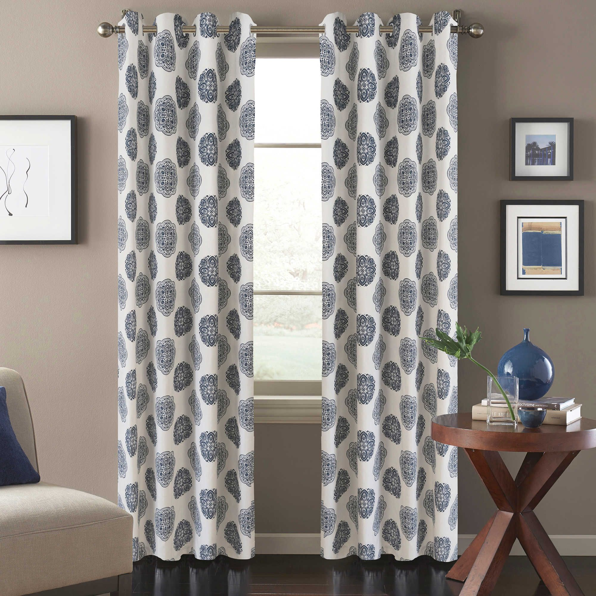 Bed bath and beyond window curtains  orion window curtain panel in blue  garage makeover  pinterest