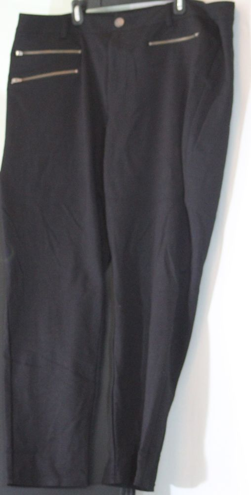 Black Plus Size Jeggings With Zipper Design, Size 24 by INC #inc #Jeggings