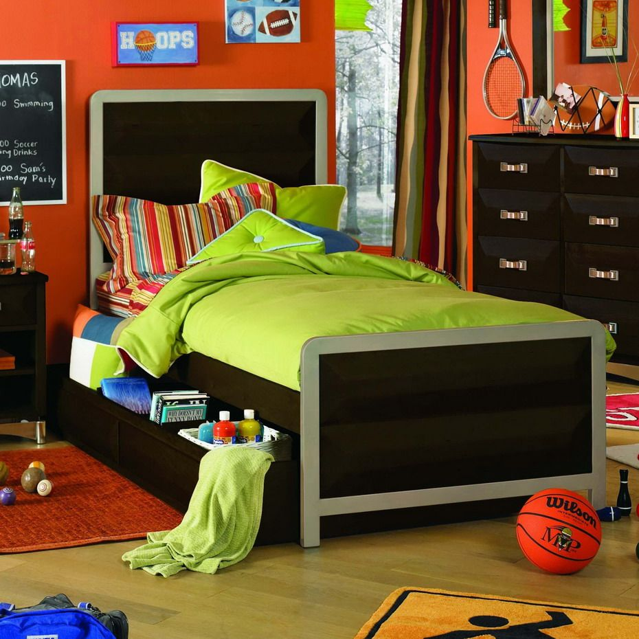 Orange Kids Room: Modern Sports Kids Room Designs Inspiration : Stunning