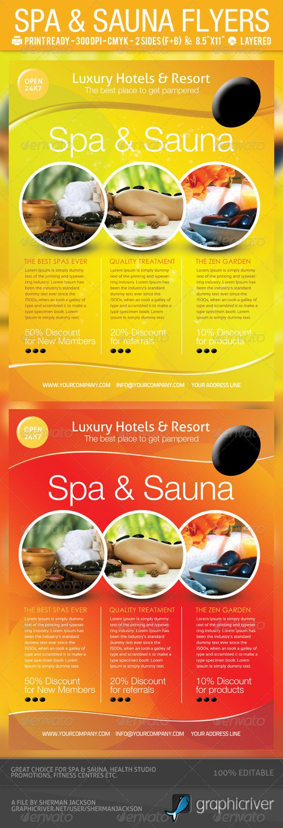 spa sauna flyers psd template adobe photoshop signage and adobe spa sauna flyers psd template