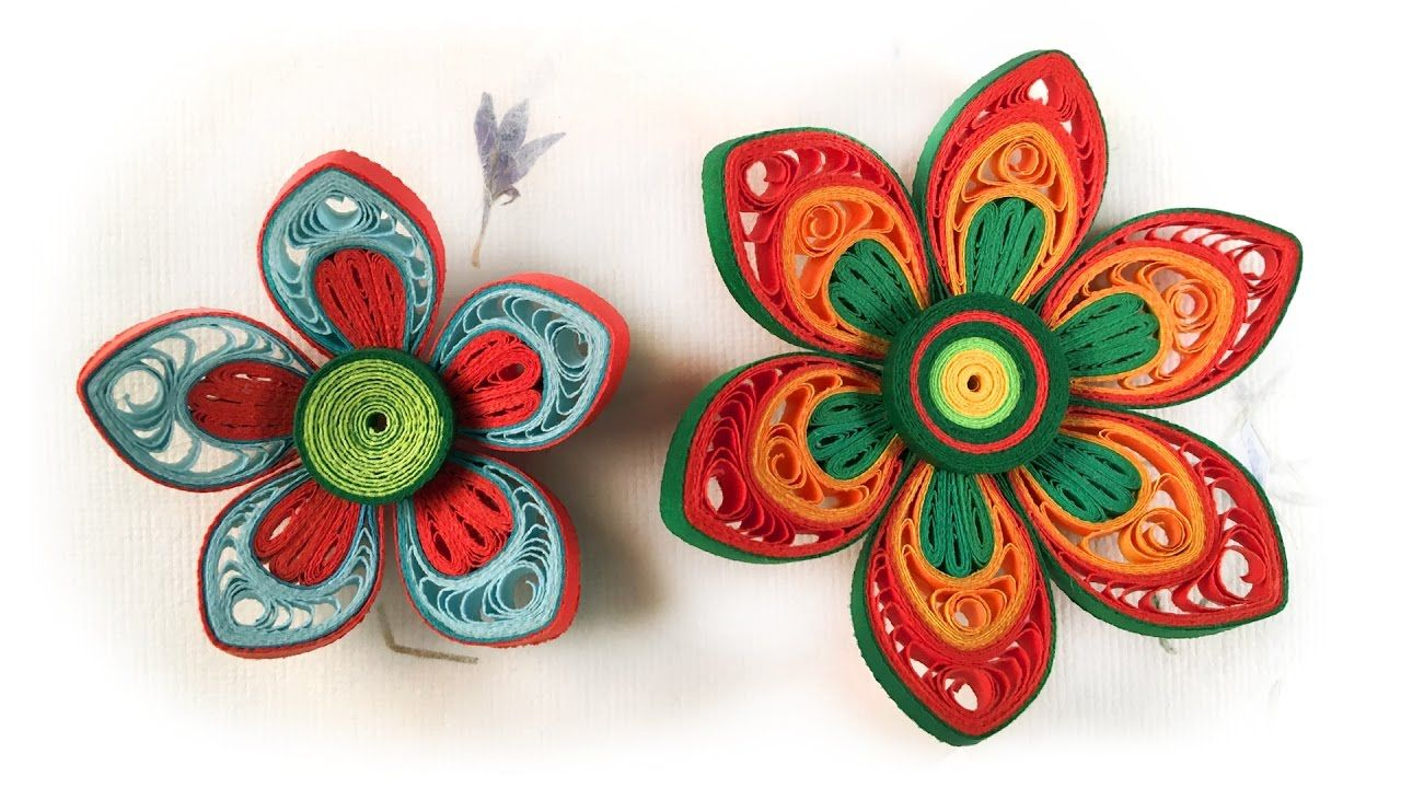 Quilling Flowers Tutorial How To Make Paper Flower Advanced