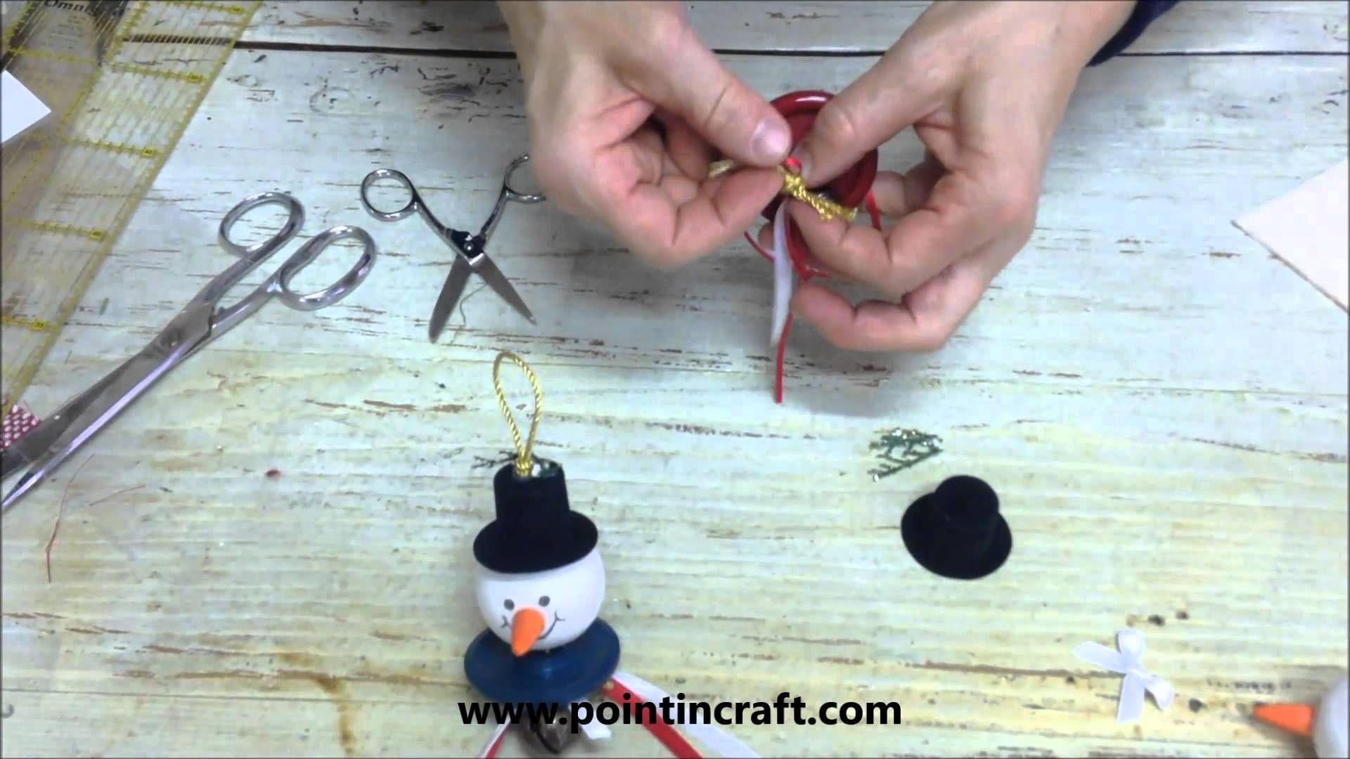 Creiamo un Pupazzo di neve d'appendere all'albero!