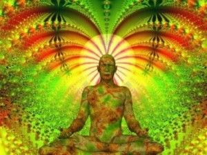 Aura reflects thoughts, feelings and desires, which appear like flashes, or clouds, usually further away from the head.