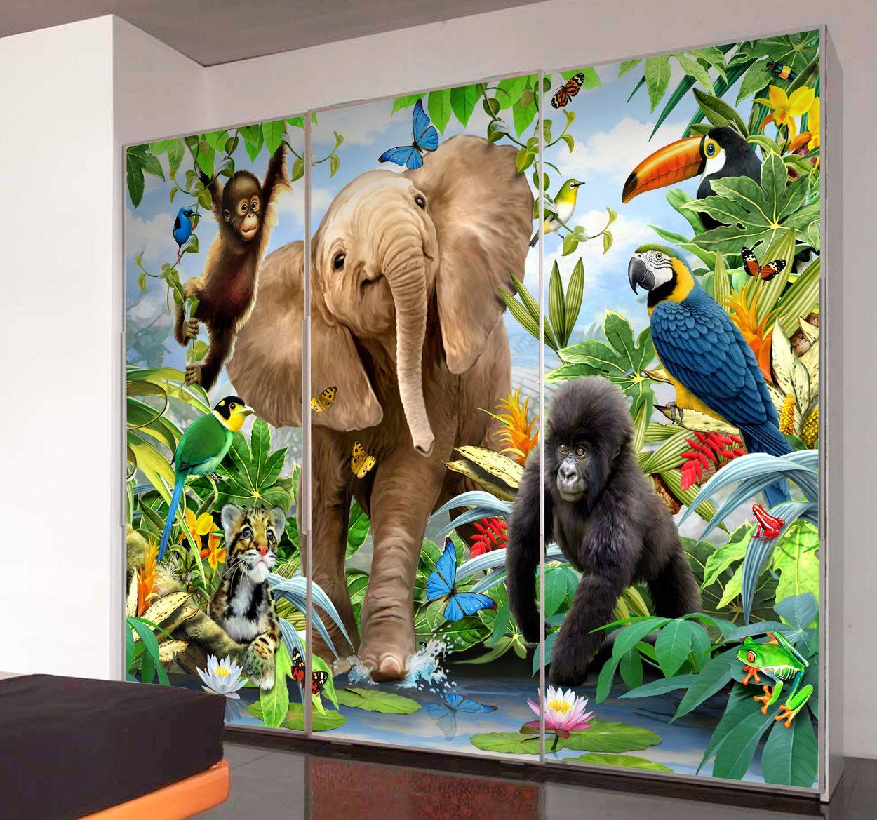 Jungle Wall Mural Jungle wall mural, Wall murals, Jungle