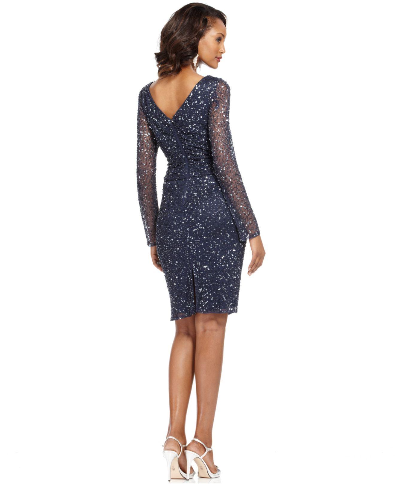 Patra Dress, Long-Sleeve Beaded Sequin - Womens Dresses - Macy's - ELEGANT!