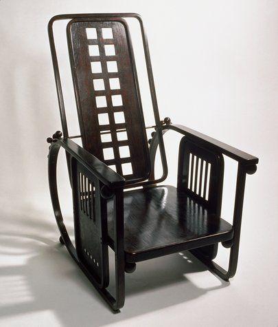 Black Chair Designed By Josef Hoffman