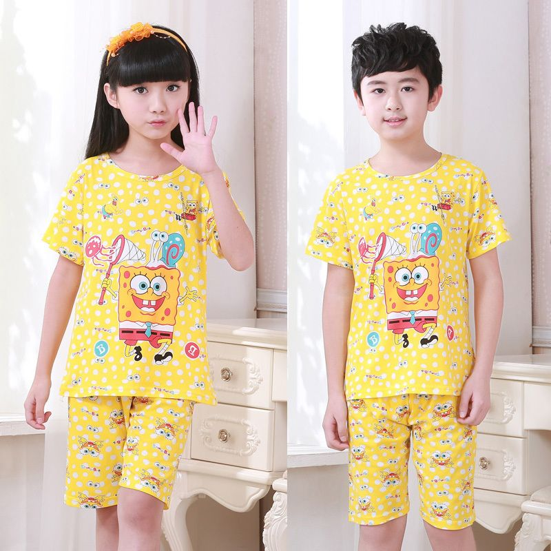 ef0a3cfb362a Click to Buy    Male Girl Pajamas Summer Thin Section Summer Child ...