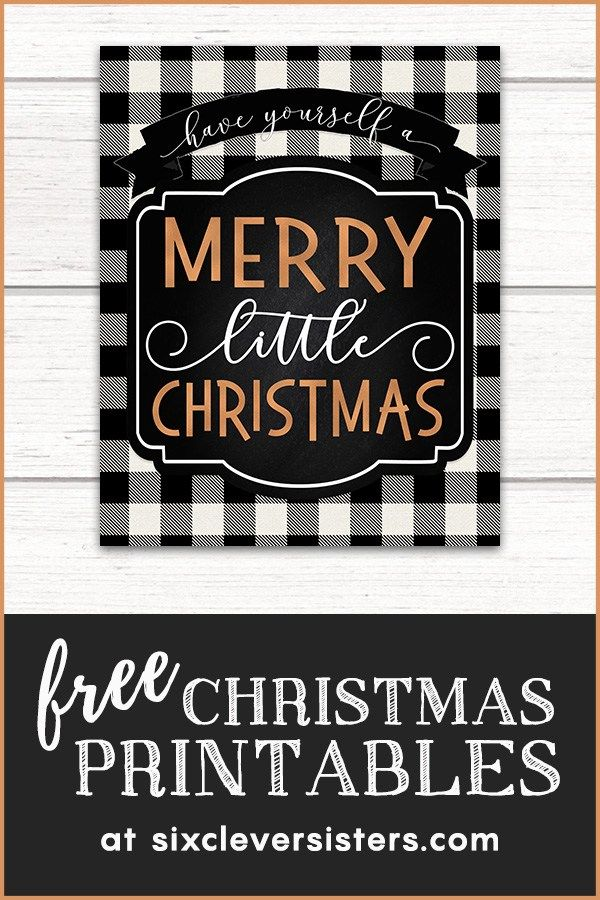 Free Christmas Printables Buffalo Plaid Check is part of Free christmas printables, Buffalo check christmas, Christmas decorations rustic, Plaid christmas, Buffalo plaid christmas, Christmas decorations - FREE Christmas Printables BUFFALO PLAID black and white  6 new designs! Easy to download and print for easily adding festivity to your home!