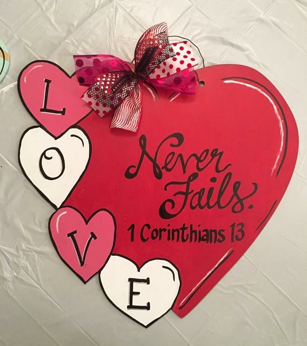 32 Fabulous Valentine Door Decorations You Will Like In 2020 Valentines Door Hanger Valentine Door Decorations Valentines For Kids