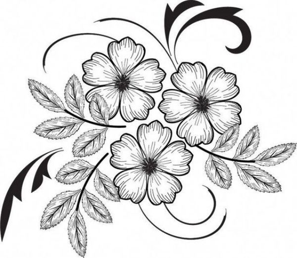 42 Simple And Easy Flower Drawings For Beginners Cartoon District Easy Flower Drawings Flower Drawing Hand Embroidery Designs,Easy Black And White Simple Flower Design