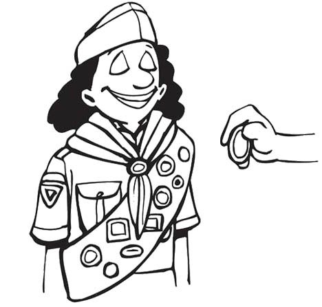 Girl Scout Coloring Pages For Kids | Kids Coloring Pages | Pinterest ...