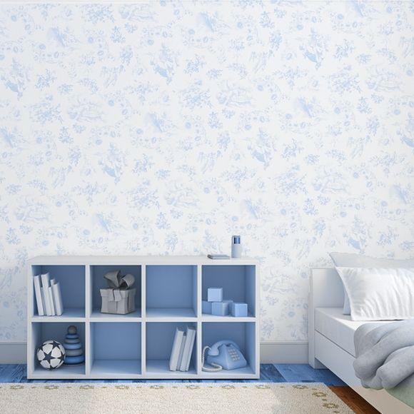 Papier peint Jouy Toile de jouy, Toile and Bedrooms