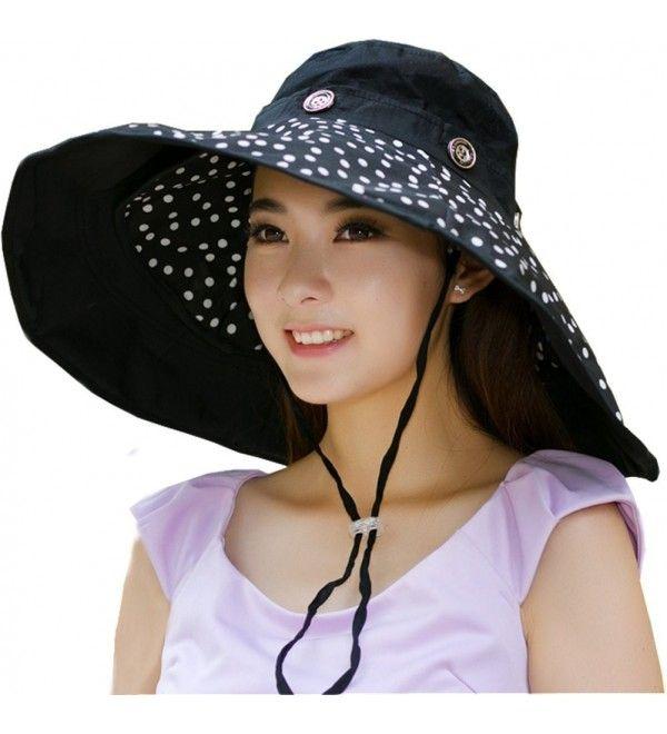 7e086677f4c Packable Extra Large Brim Floppy Sun Hat Reversible UPF 50+ Beach ...