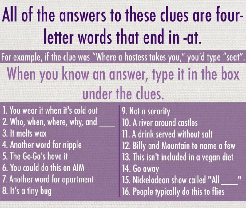 Only Two Letters Are Separating You From Every Answer On