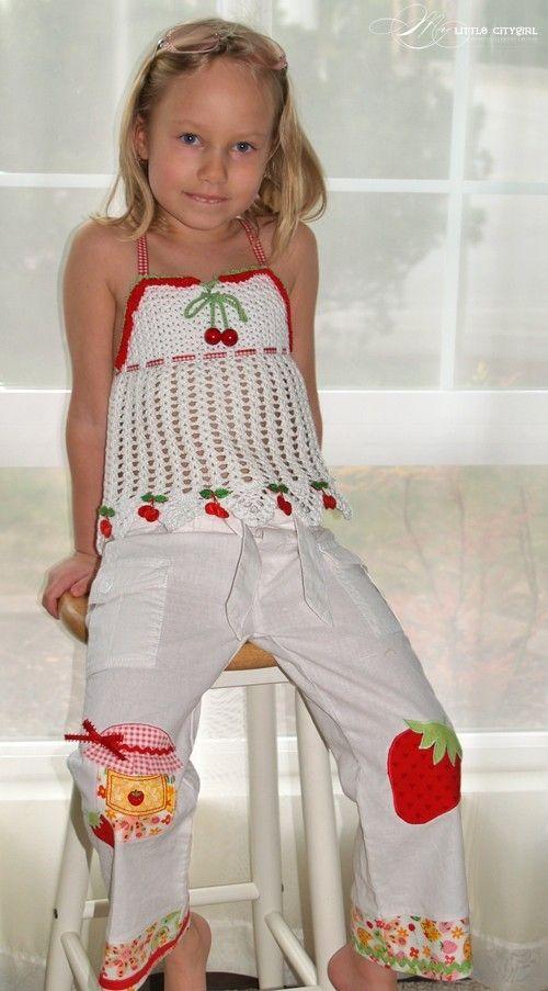 CROCHET PATTERN Fruity Fun. Cherry Top Crochet Pattern in PDF for ...