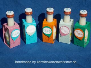 Der Kleine Klopfer Kerstins Kartenwerkstatt Kleiner Klopfer Schnaps Flaschenanhanger